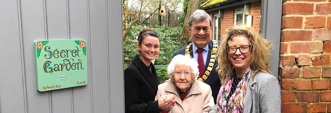 The mayor visits the new Memory Garden at St Audrey's Care Home